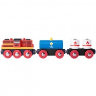 Diesel lokomotiva s nákladním vlakem