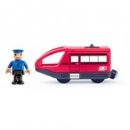 Moderní elektrická mašinka - červená