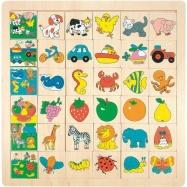 Drevené hračky Woody - Prilož kam čo patrí veľké (6x6)