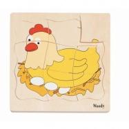 Puzzle warstwowe życie kurki
