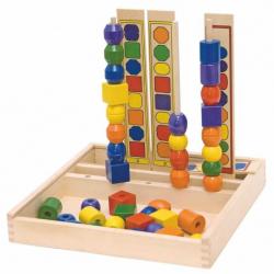 Drevené hračky - navliekadlom Logik