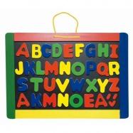 Školní pomůcky - Dětská magnetická tabule s písmeny