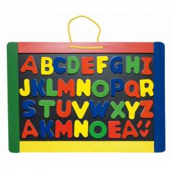 Školské pomôcky - Detská magnetická tabuľa s písmenami