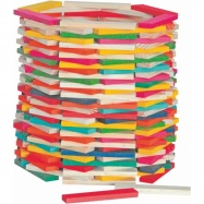 Woody Stavebnice Simona přírodní / barevná 200 ks