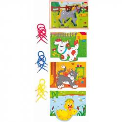 Drevené hračky - Prešívacia krabička - Zvieratká