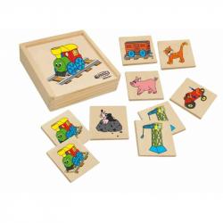 Drevené hračky - drevené hry - Pexeso Mašinka