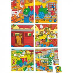 WOODY - Drewniane kostki - Kubuś 4x4 Pociąg