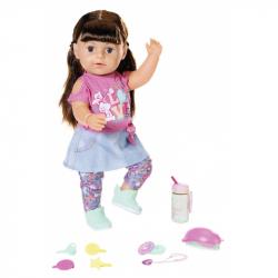 BABY born - Lalka interaktywna Siostrzyczka brunetka 43 cm