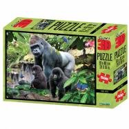 Puzzle 3D 500 dielikov, gorily, slony, Rím, oceán, džungľa, zvieracie párty