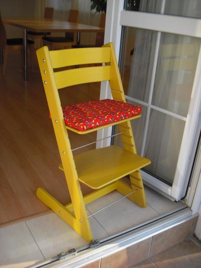 Dětská rostoucí židle JITRO KLASIK žlutá