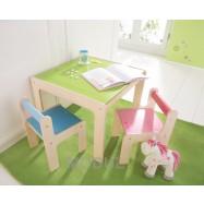 Dětský stoleček a 2 židličky Haba
