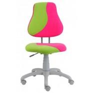 Rastúca stolička Fuxo S Line Suedine ružovo-zelená 341