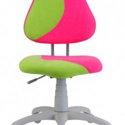 Rosnące krzesełko Alba Fuxo S Line Suedine różowo-zielone 341