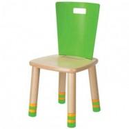 Dětská dřevěná židlička Haba Rollando zelená