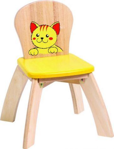 Detská drevená stolička Mačička