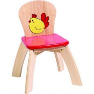 Dětská dřevěná židlička Slepička