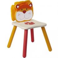 Krzesełko dla dzieci drewniane, Lew