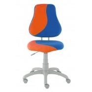 Rostoucí židle Fuxo S Line Suedine oranžovo-modrá 608