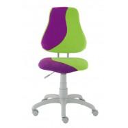 Rostoucí židle Fuxo S Line Suedine fialovo-zelená 508