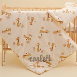 Komplet poszewek na pościel do łóżeczka Żyrafa- żółty