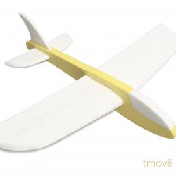 Letadélko FLY-POP pěnové tmavě žluté