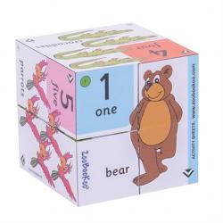 Didaktická kniha v kostce - Přiřaď čísla k obrázku