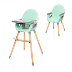 Dětská židlička Dolce 2, Ice Green/Grey