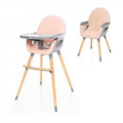 Dětská židlička Dolce 2, Blush Pink/Grey