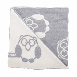 ZOPA Koc dla dzieci Little Owl, Grey