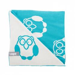 ZOPA Koc dla dzieci Little Owl, Mint