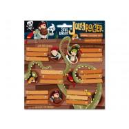 Jmenovky na sešity Pirát Jolly Roger 18ks