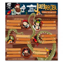 ARS UNA Menovky na zošity Pirát Jolly Roger 18ks