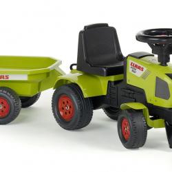 Odstrkovadlo - traktor Claas s volantom a prívesom