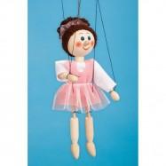 Marionetka drewniana Baletka, 20 cm