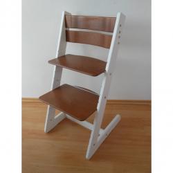 Detská rastúca stolička JITRO KLASIK bielo orechová
