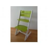 Detská rastúca stolička JITRO KLASIK bielo svetlozelená