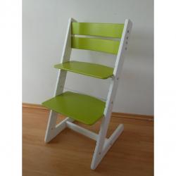 Dětská rostoucí židle JITRO KLASIK bílo světlezelená
