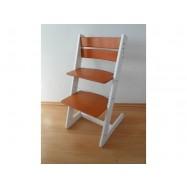 Detská rastúca stolička JITRO KLASIK bielo čerešňová