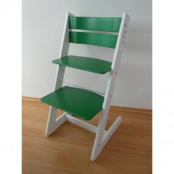 Detská rastúca stolička JITRO KLASIK bielo zelená