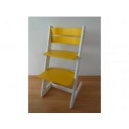 Detská rastúca stolička JITRO KLASIK bielo žltá