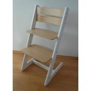 Dětská rostoucí židle JITRO KLASIK bílo buková