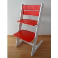 Detská rastúca stolička JITRO KLASIK bielo červená