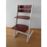 Detská rastúca stolička JITRO KLASIK bielo mahagónová