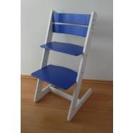 Dětská rostoucí židle JITRO KLASIK bílo modrá