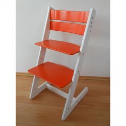Detská rastúca stolička JITRO KLASIK bielo oranžová