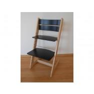 Detská rastúca stolička JITRO KLASIK bukovo čierna