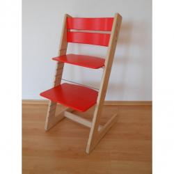 Detská rastúca stolička JITRO KLASIK bukovo červená