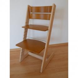 Detská rastúca stolička JITRO KLASIK bukovo dubová