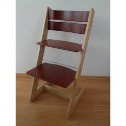 Detská rastúca stolička JITRO KLASIK bukovo mahagónová