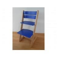 Detská rastúca stolička JITRO KLASIK bukovo modrá